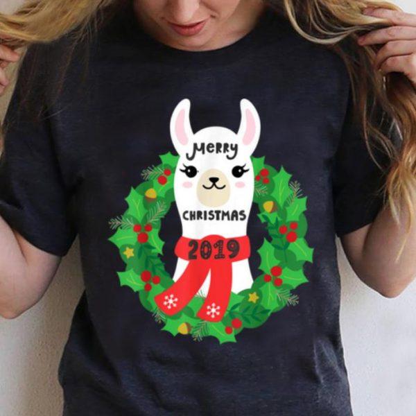Nice Christmas Llama 2020 Tshirt - Merry Xmas Alpaca Shirt T-Shirt B07KXCYZ3N.png