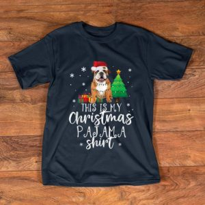Nice Funny Christmas Pajama For English Bulldog Lover Gifts shirt