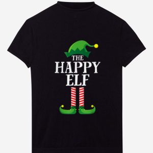 Nice Happy Elf Matching Family Group Christmas Party Pajama shirt