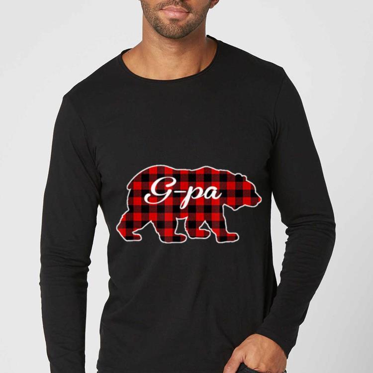 Nice Mens Red Plaid G Pa Bear Buffalo Matching Family Pajama shirt 4 - Nice Mens Red Plaid G-Pa Bear Buffalo Matching Family Pajama shirt