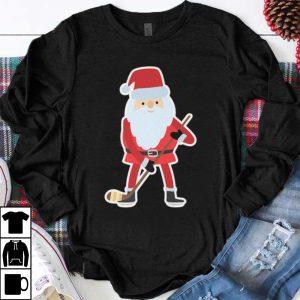 Nice Santa Hockey Xmas Pajama Tee shirt