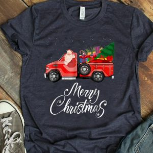 Nice Santa Red Truck Merry Christmas Tree & Gifts Vintage T Shirt B07K5BVH1S.png
