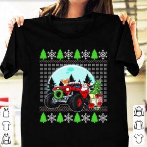 Nice Santa Reindeer Riding Jeeps Ugly Christmas shirt