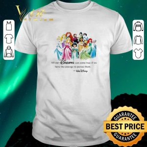 Nice Walt Disney Princess All our dreams can come true if we have the courage to pursue them shirt sweater