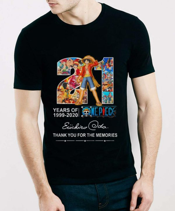 Official 21 Years Of One Piece 1999-2020 Thank You For The Memories Signature shirt