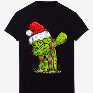 Official Dabbing Cactus Santa Christmas Kids Boys Girls Gifts shirt