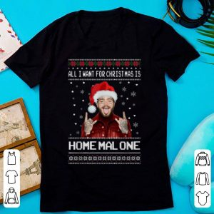 Official Post Malone All I Want For Christmas Is Home Malone Ugly Christmas shirt
