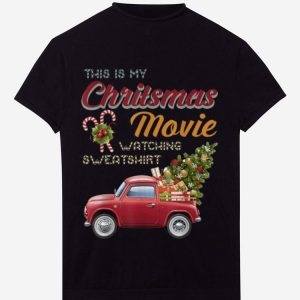 Official Retro Vintage This is My Christmas Movie Watching Sweatshirt shirt