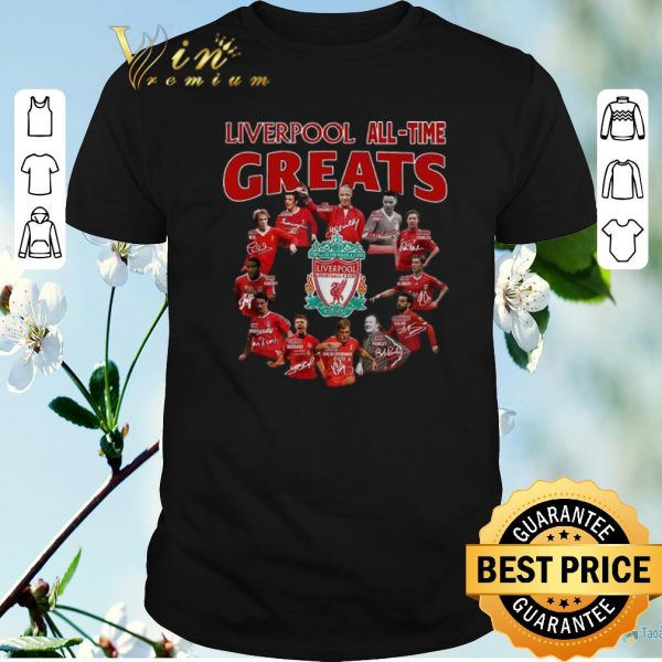 Official Signatures Liverpool All-Time Greats Players shirt