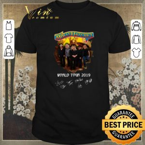 Official Signatures Molly Hatchet world tour 2019 shirt