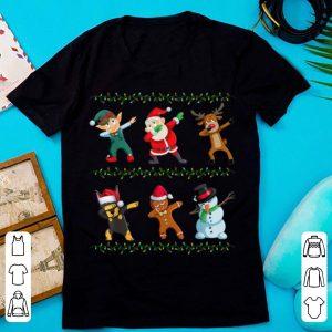 Original Funny Dabbing Santa Doberman Pinscher And Friends Christmas shirt