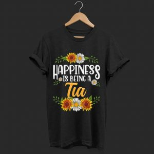 Original Happiness Is Being A Tia Thanksgiving Christmas shirt