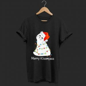 Original Merry Kissmyass Cat Lover Christmas shirt