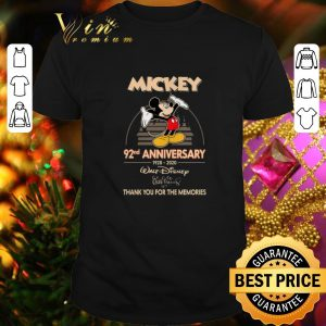 Original Mickey 92nd anniversary 1928-2020 thank you for the memories shirt
