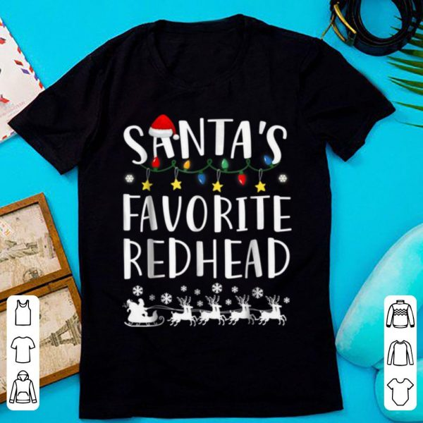 Original Santa's Favorite Redhead Christmas shirt