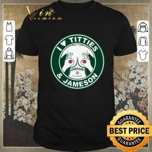Original Starbucks logo I love titties & Jameson Irish Whiskey shirt sweater