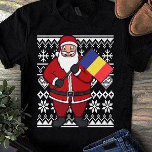 Original Ugly Christmas Romania Flag Santa Romanian Gift Idea shirt