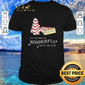 Premium Christmas cake It's the most wonderful time of the year shirt sweater