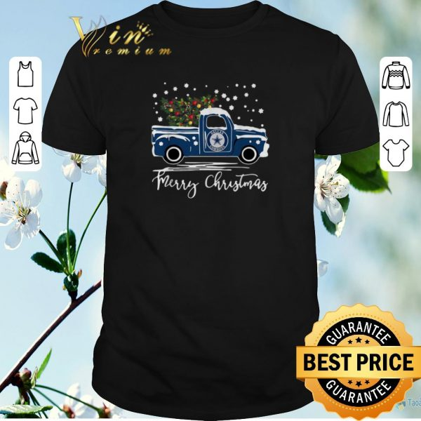 Premium Dallas Cowboys truck Merry Christmas shirt sweater