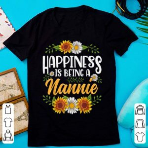 Premium Happiness Is Being A Nannie Thanksgiving Christmas shirt