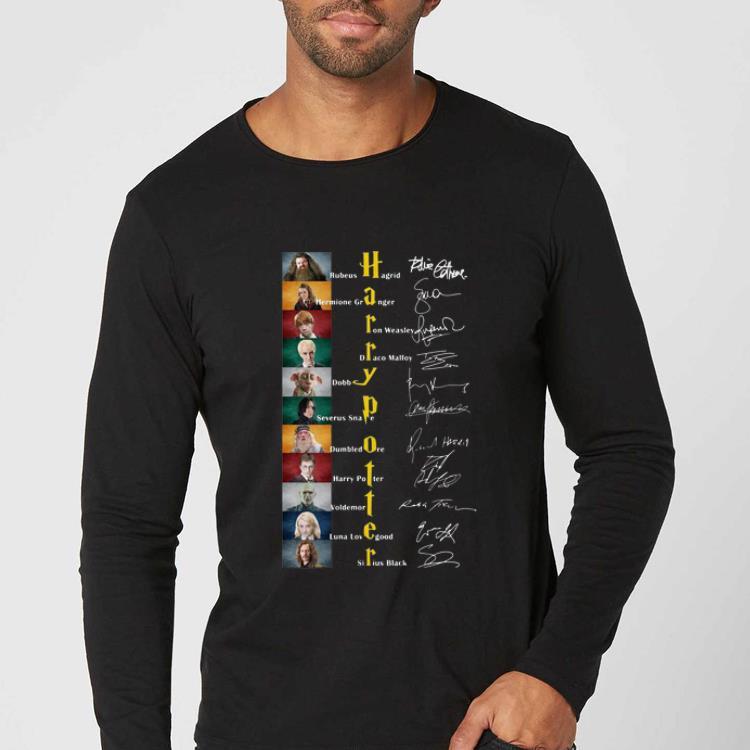 Premium Harry Potter Character Signatures shirt 4 - Premium Harry Potter Character Signatures shirt