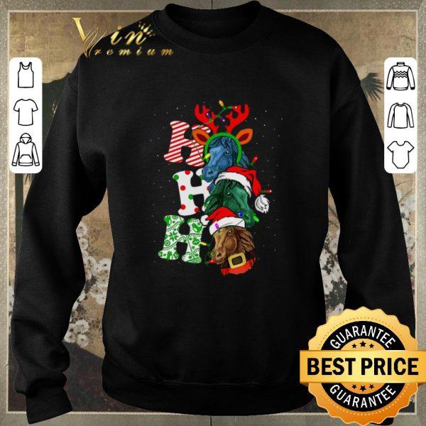 Premium Ho Ho Ho Santa Horse Christmas shirt sweter