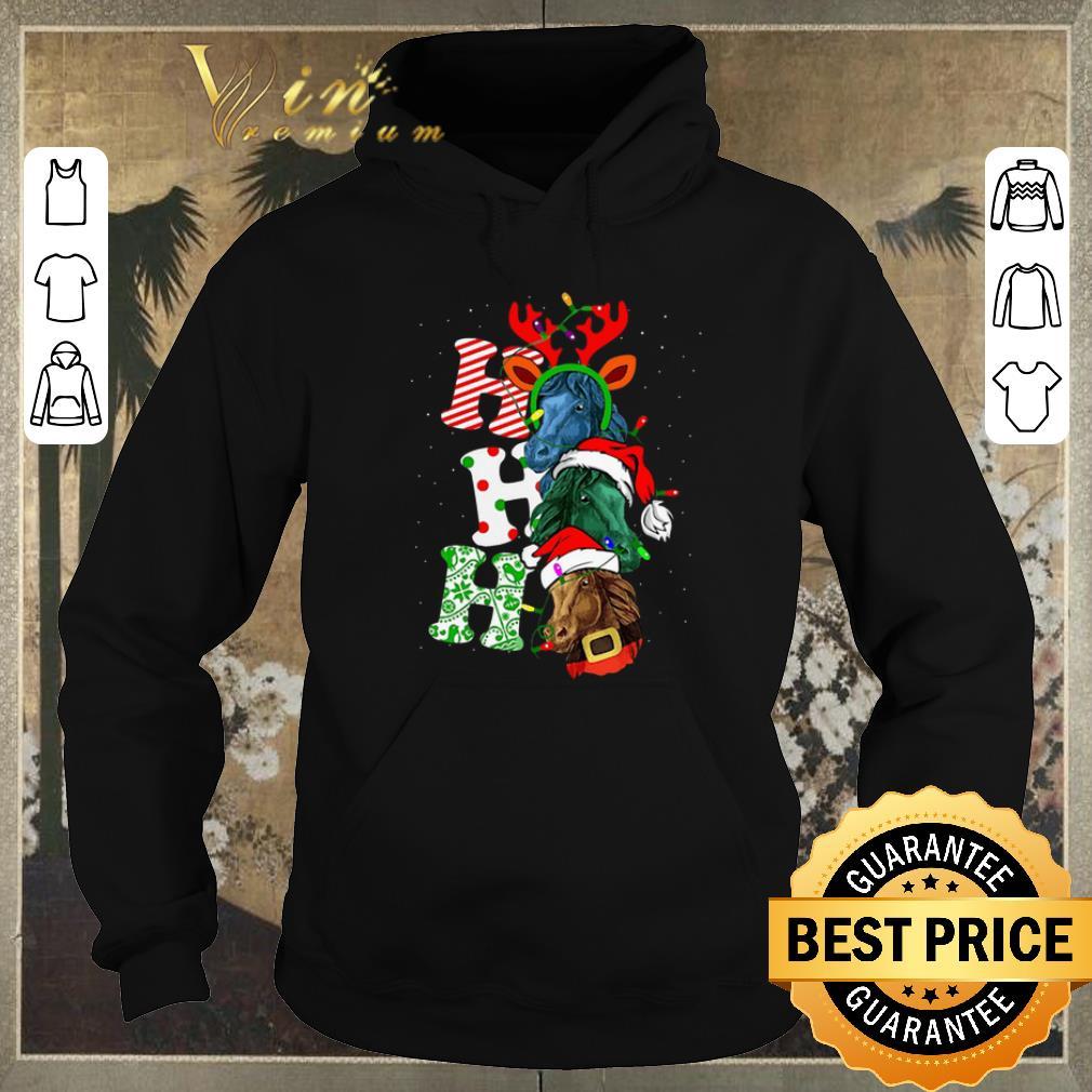 Premium Ho Ho Ho Santa Horse Christmas shirt sweter 4 - Premium Ho Ho Ho Santa Horse Christmas shirt sweter