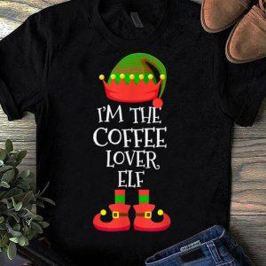 Premium I'M THE Coffee Lover ELF Christmas Xmas Elf Group Costume shirt