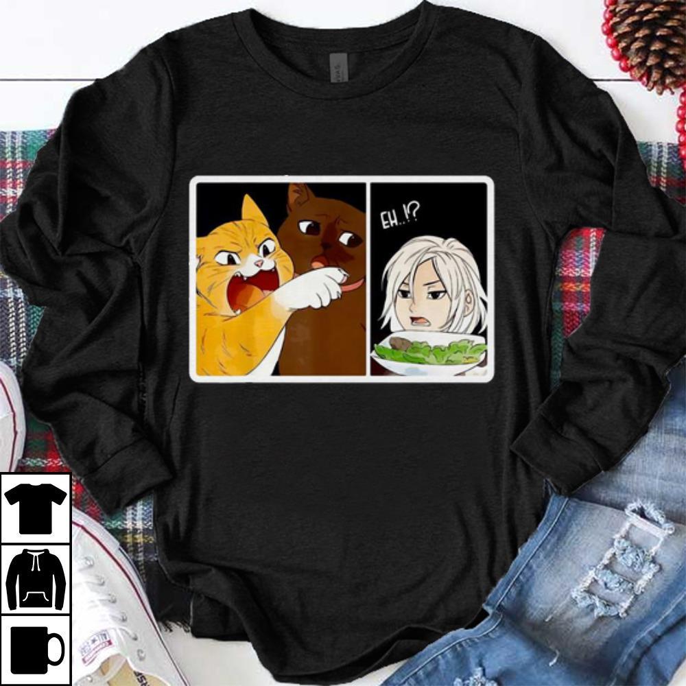 Premium Madoka Yelling And Garfield Woman Yelling At Cat Meme Shirt Mamyshirts