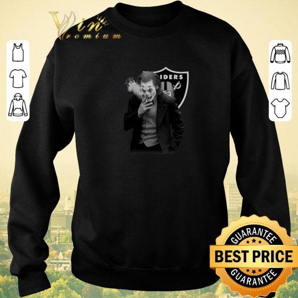 Premium Oakland Raiders Joker Joaquin Phoenix shirt sweater