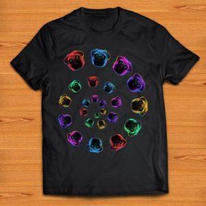 Premium Pug Dog Lover Spiral Galaxy Colorful shirt