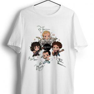 Premium Queen Band Chibi Friends Signatures shirt