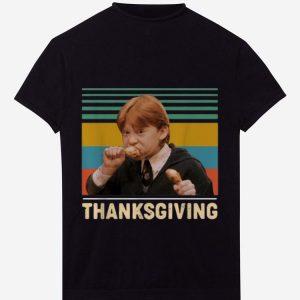 Premium Vintage Ron Weasley Harry Potter Thanksgiving shirt