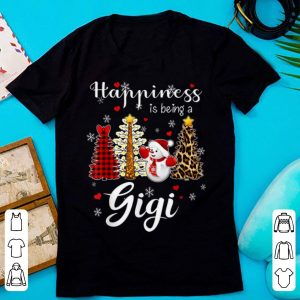 Pretty Christmas Happiness is being a Gigi lovely costume shirt