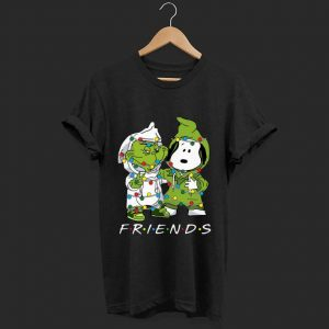 Pretty Friends Grinch and Snoopy light christmas shirt