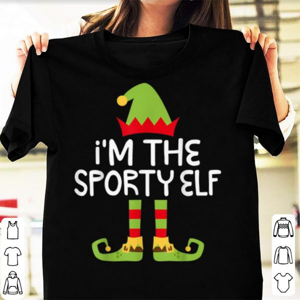 Pretty I'm The Sporty Elf Matching Christmas Costume sweater