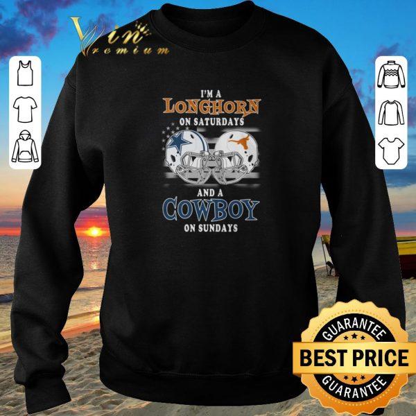 Pretty I'm a Texas Longhorns on saturdays and a Dallas Cowboys on sundays shirt sweater 2019