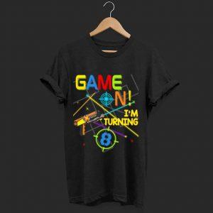 Pretty Laser Tag Birthday Party Game On Im Turning 8 shirt
