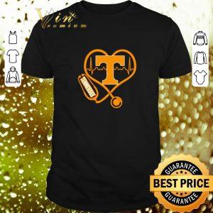 Pretty Love Tennessee Volunteers Stethoscope Heartbeat nurse shirt