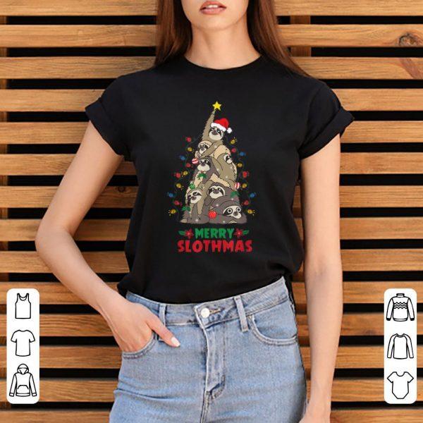 Pretty Merry Slothmas Sloth Christmas Tree Funny Chirstmas shirt
