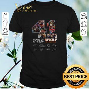 Pretty Signatures Thanksgiving 41 Years Of Wkrp In Cincinnati 1978-2019 shirt