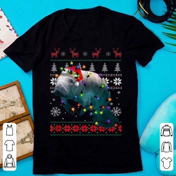 Pretty Ugly Christmas Manatee Santa Funny Manatee Lover Gift shirt