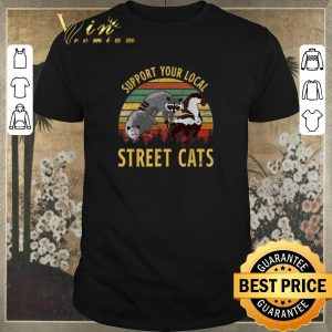 Pretty Vintage Raccoon Support your local street cats shirt