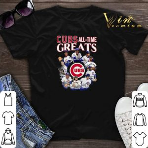 Signatures Chicago Cubs all time Greats team players shirt