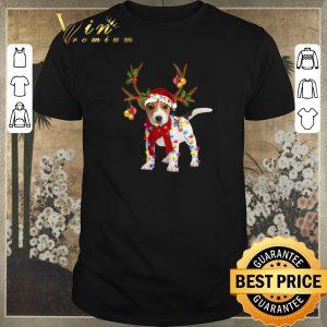 Top Christmas Jack Russell Reindeer shirt