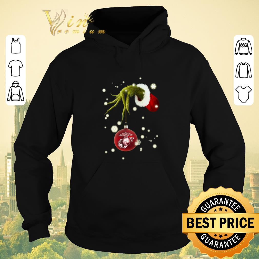 Top Grinch holding United States Marine Corps shirt sweater 4 - Top Grinch holding United States Marine Corps shirt sweater