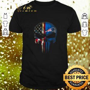 Top Punisher Skull American flag New England Patriots shirt