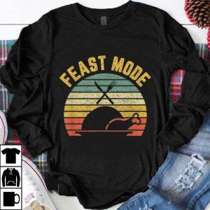 Top Retro Funny Feast Mode Thanksgiving shirt