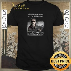 Top Terminator Assuming i'm just an old man was your first mistake shirt sweater