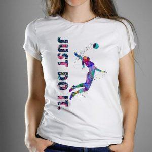 Top Volleyball Girl Just Do It Flower shirt